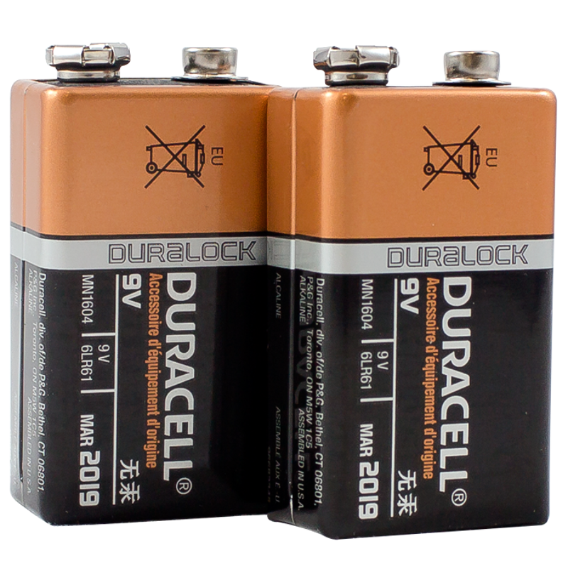two duracell 9 volt batteries. Black Bedroom Furniture Sets. Home Design Ideas